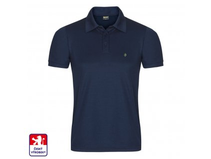 Polo navy blue front O3