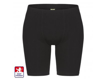 Boxers long black front O3