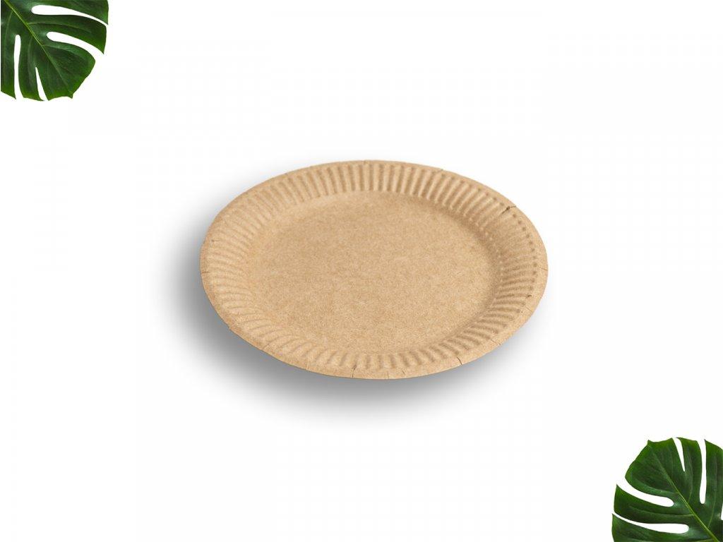 Papírový talíř hnědý 18cm main