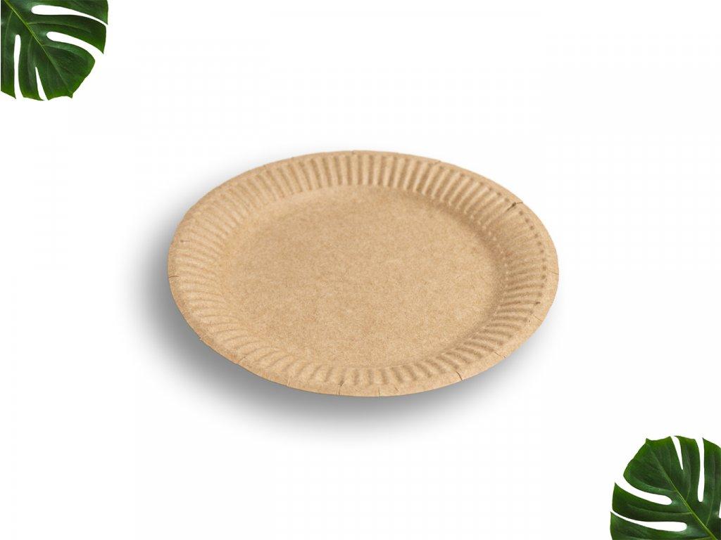 Papírový talíř hnědý 23cm main