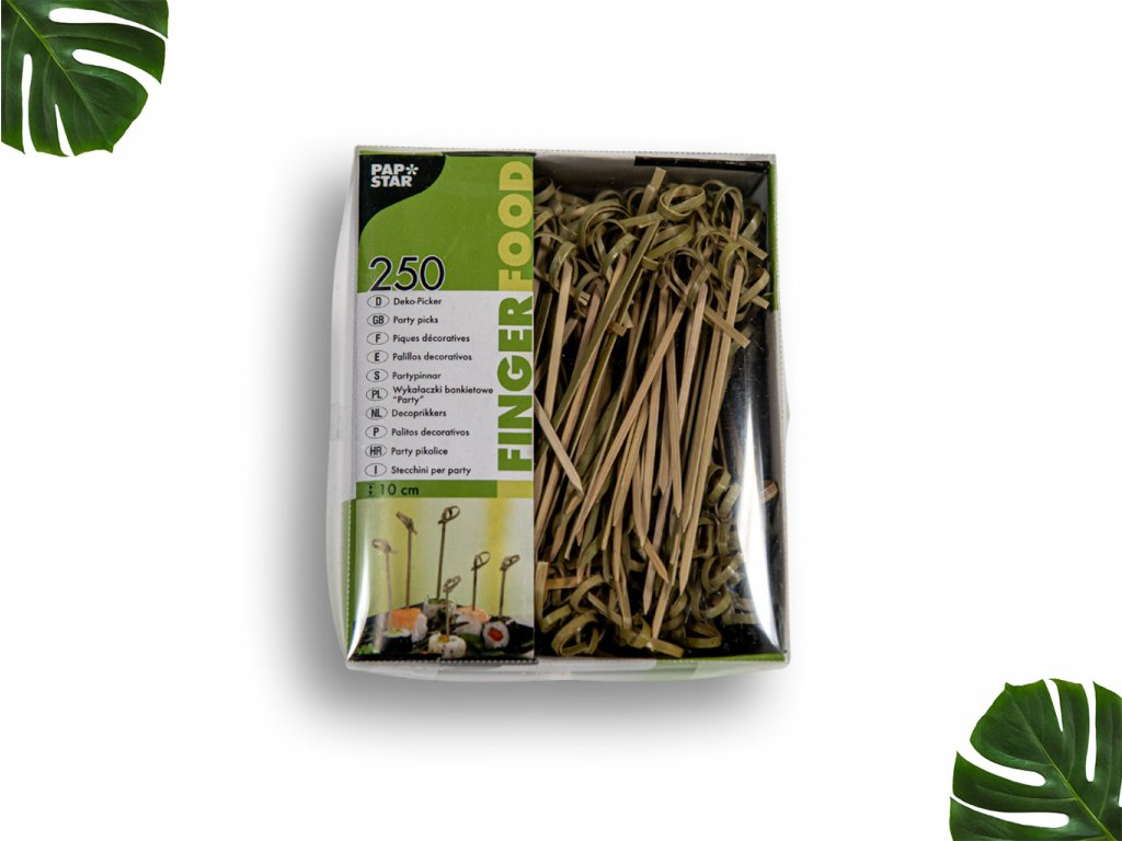 Bambusové napichovátko uzel 10cm PAPSTAR main