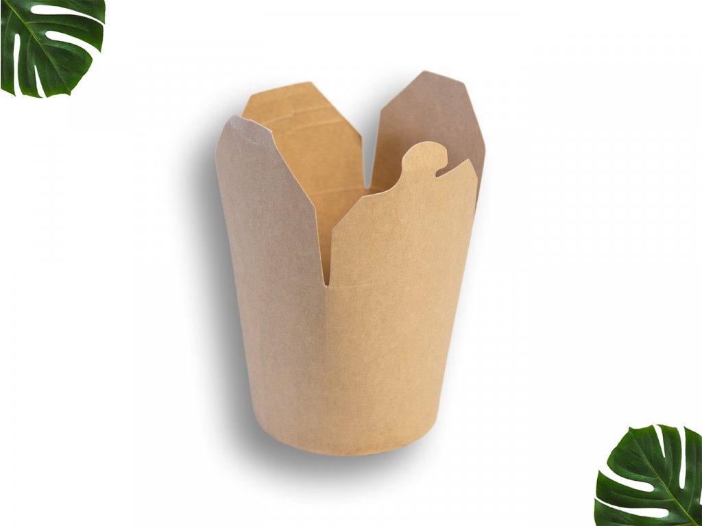 Papírový box na nudle 750ml main