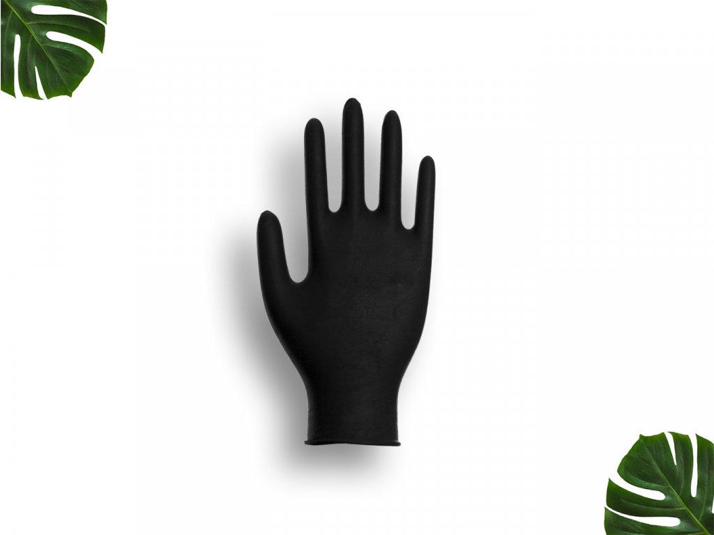 Nitrilové rukavice černé velikost S main