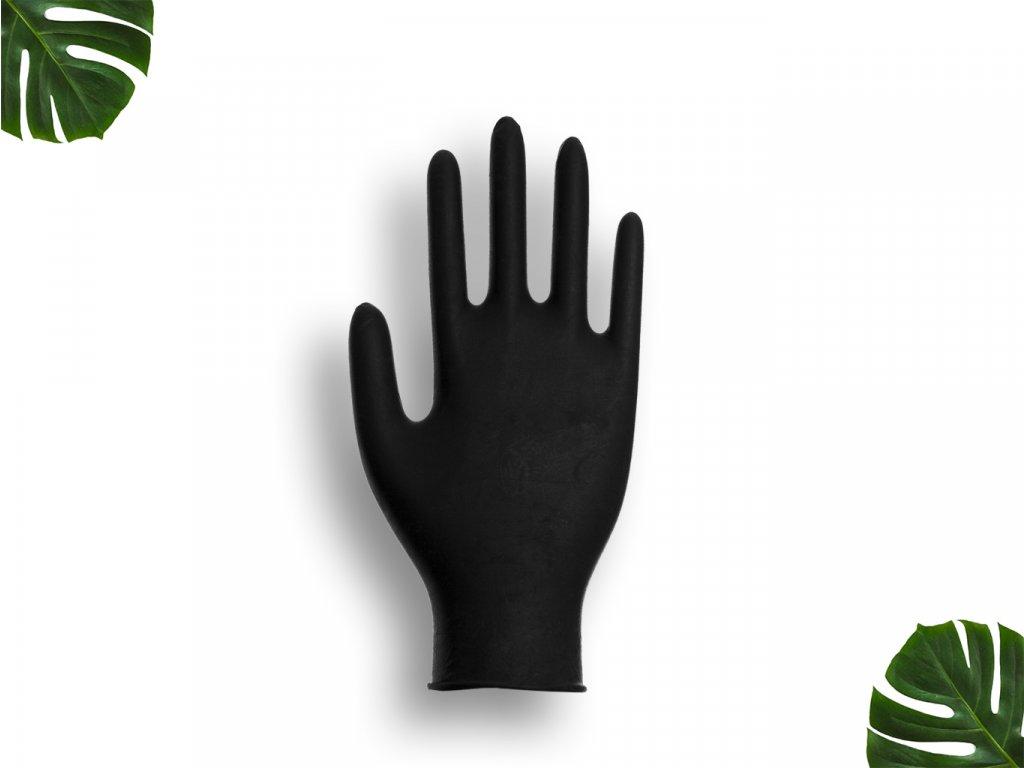Nitrilové rukavice černé velikost M main