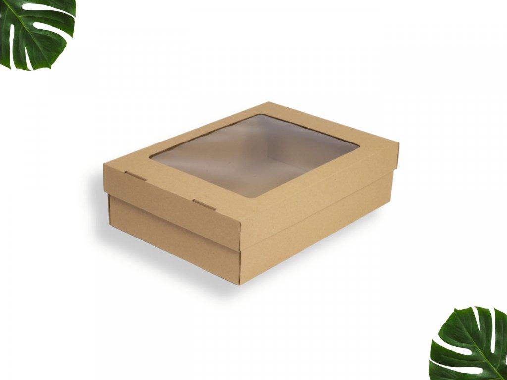Dárková krabice s okénkem 369x270x100