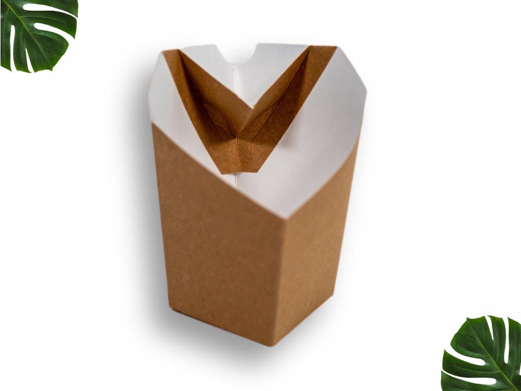 Papírová krabička na hranolky velká main