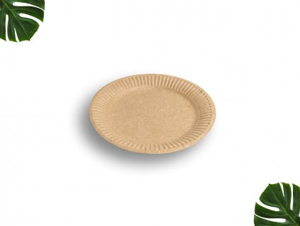 Papírový talíř hnědý 15cm main
