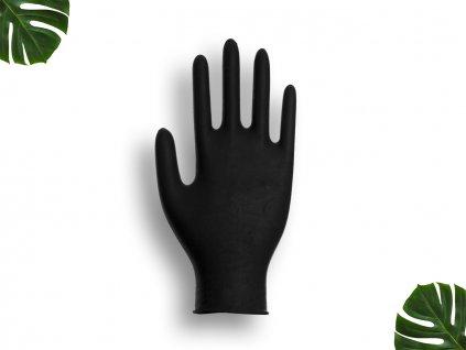 Nitrilové rukavice černé velikost L