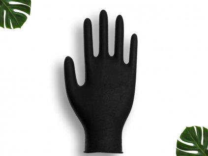 Nitrilové rukavice černé velikost XL main