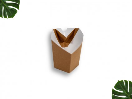 Papírová krabička na hranolky malá