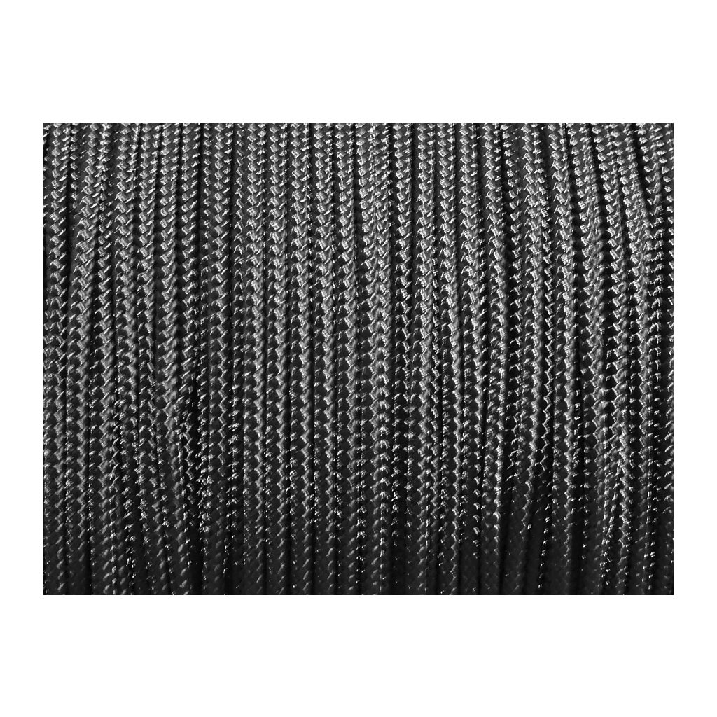 Microcord 1mm metráž - Černá