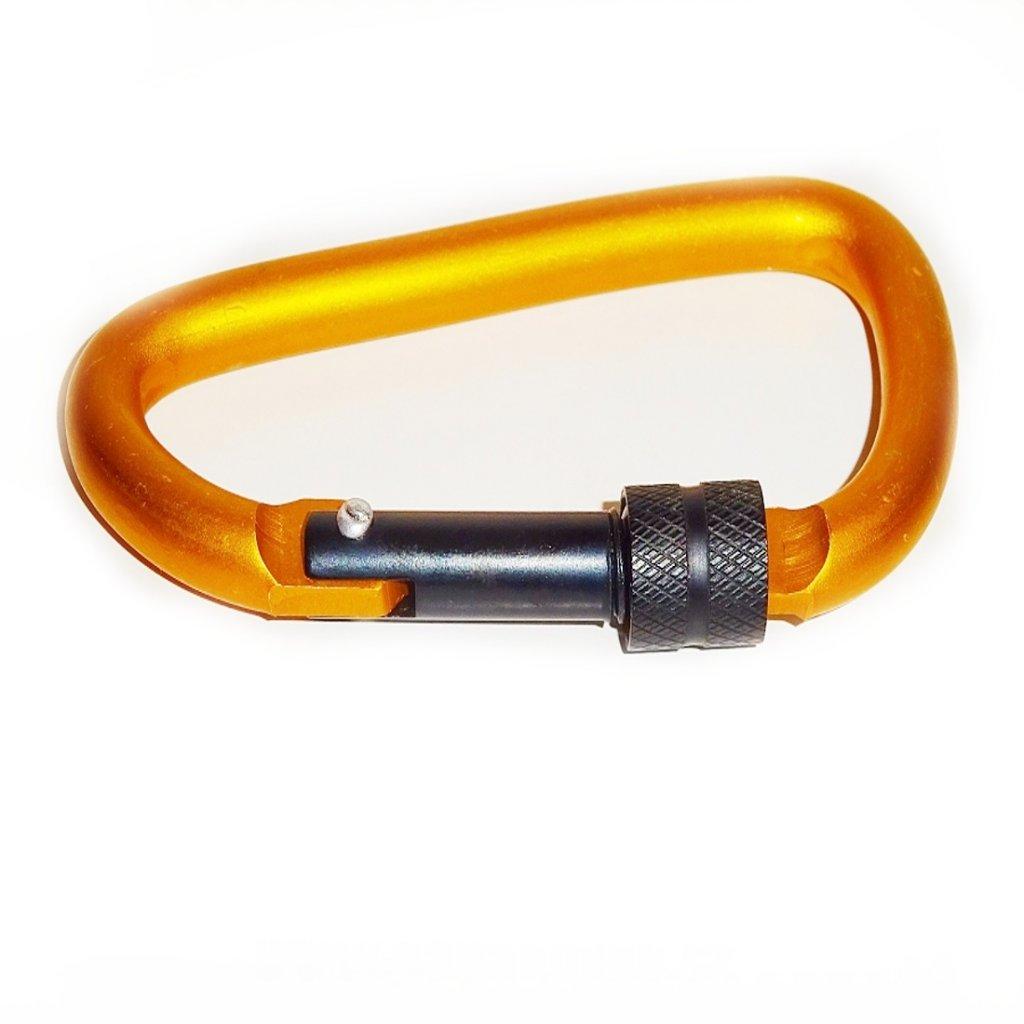 Karabina hliníková 70mm oranžová