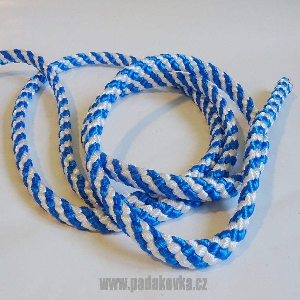 Lano plovoucí 10mm modro bílé