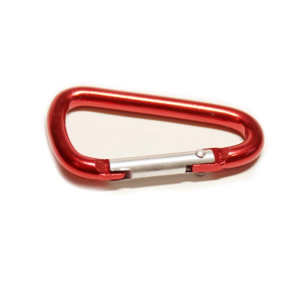 Karabina hliníková červená