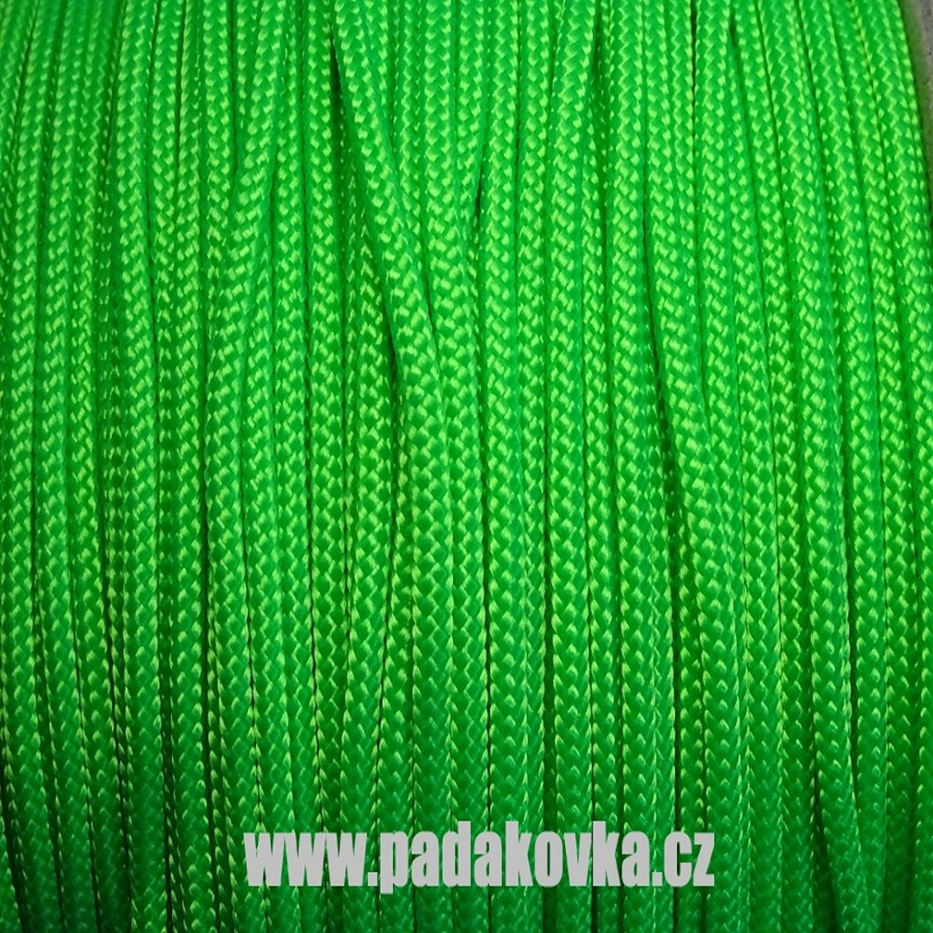 Microcord 100 metráž - NEON zelená