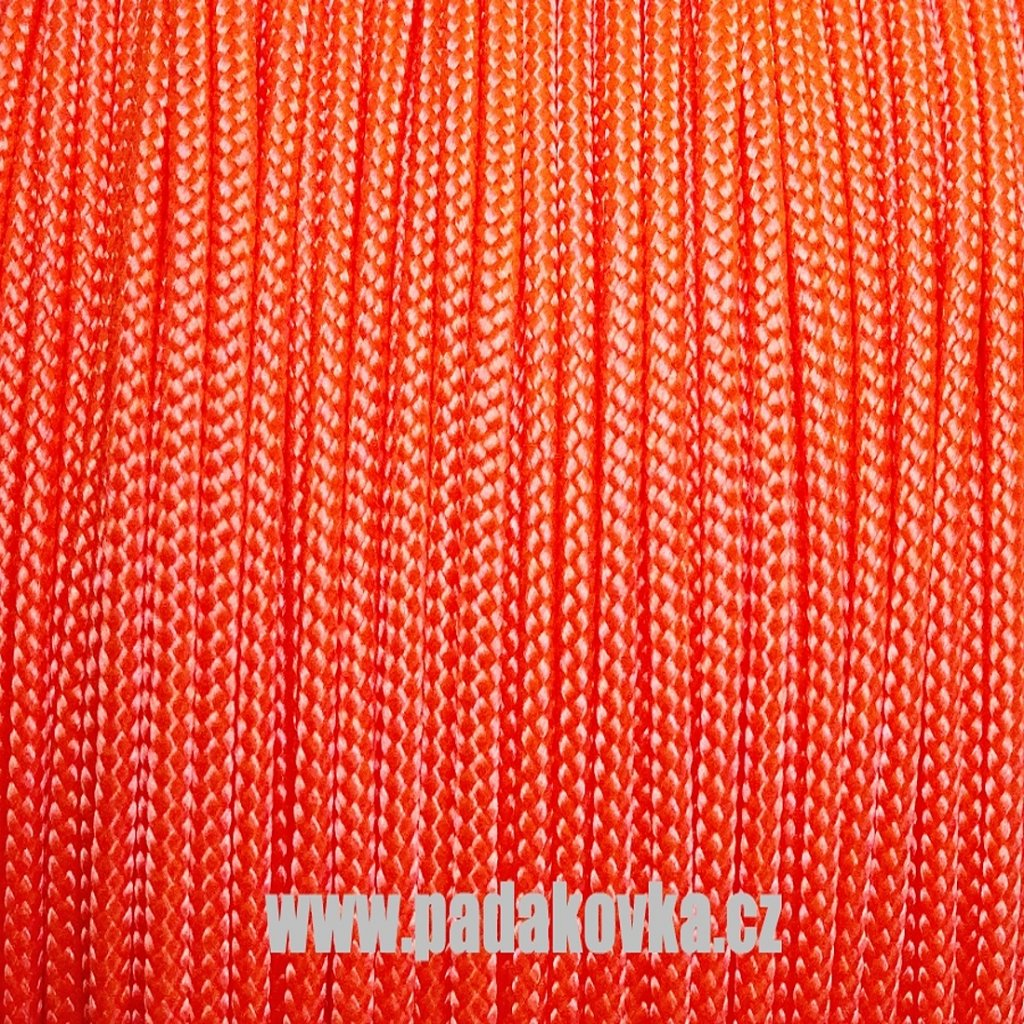 Microcord 100 metráž NEON oranžová