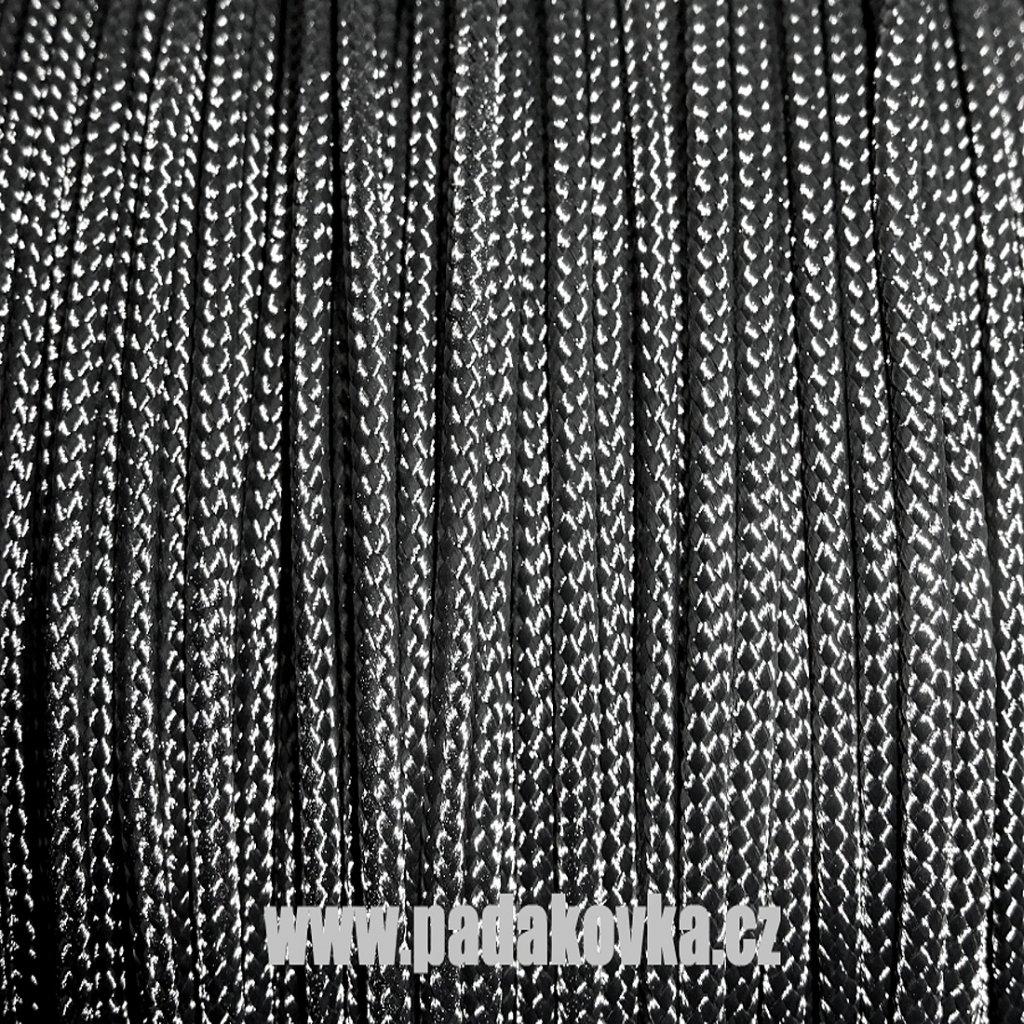 Microcord 100 metráž - Černá