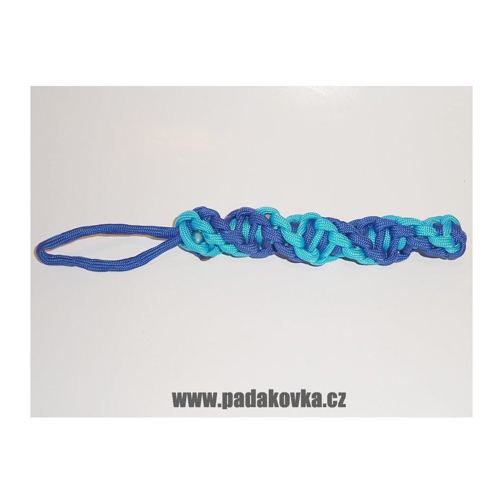 PARACORD SPIRÁLA DNA MODRÝ2