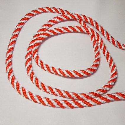 Lano plovoucí 10mm červeno bílé