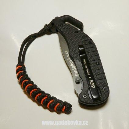 PARACORD přívěsek černo oranžový