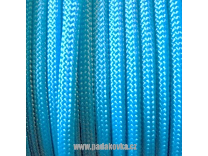 Paracord metráž - světle modrá