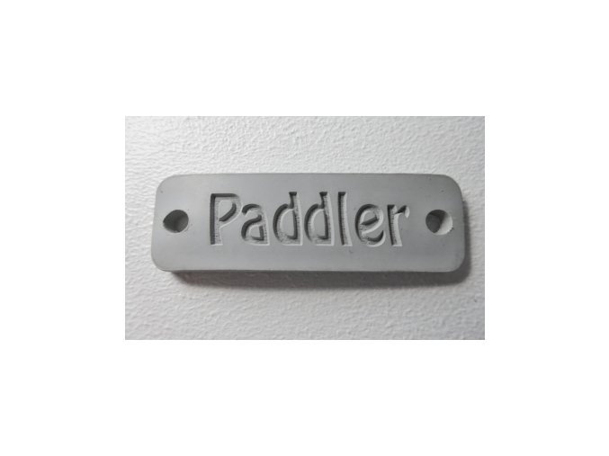 ID gumový štítek PADDLER