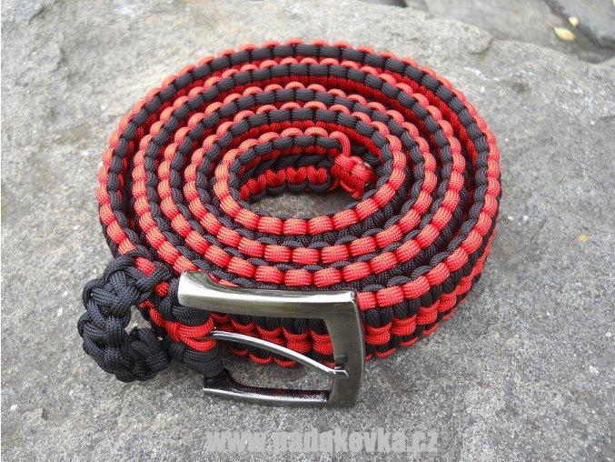 Opasek červeno černý pánský