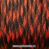 Paracord metráž - CAMO červená ohnivá