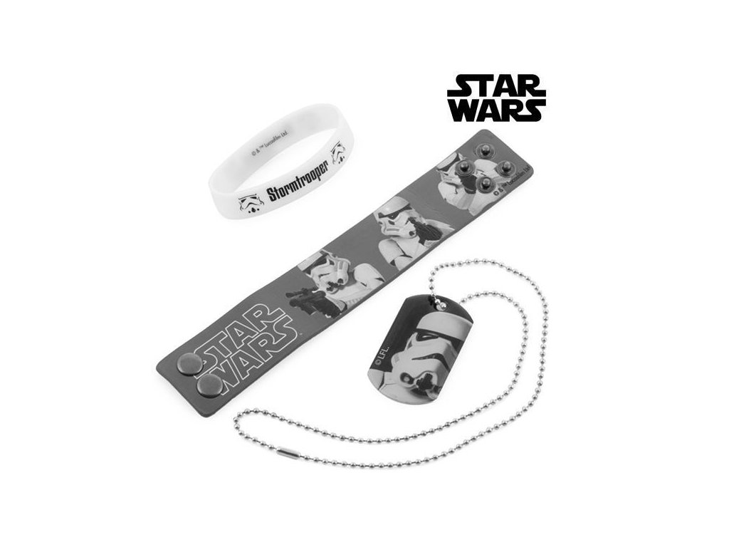 stormtrooper bracelets and necklace star wars