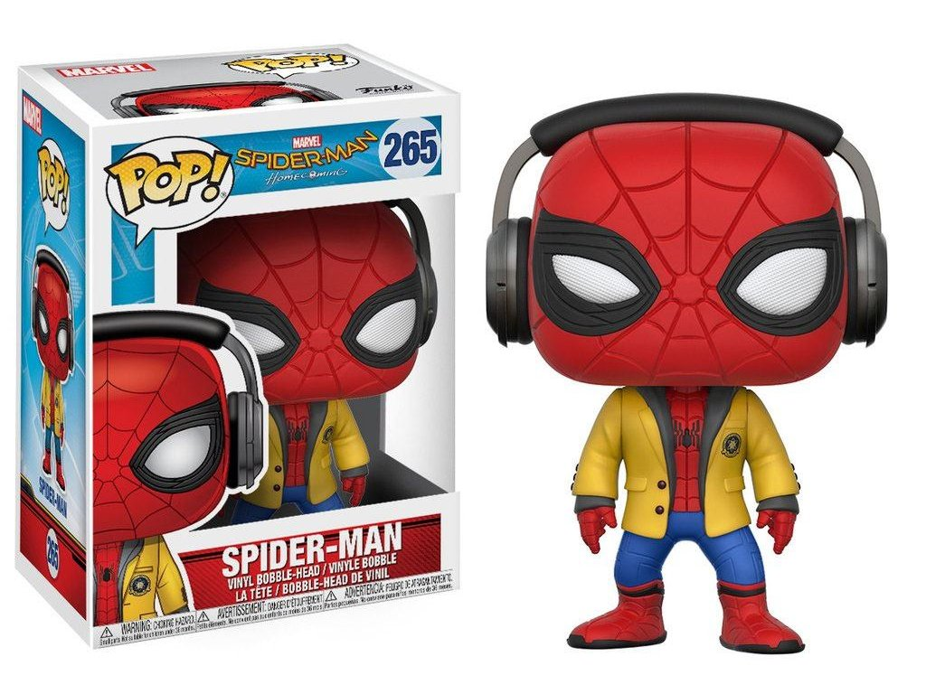 Funko POP! Spiderman se sluchátky 9 cm Marvel