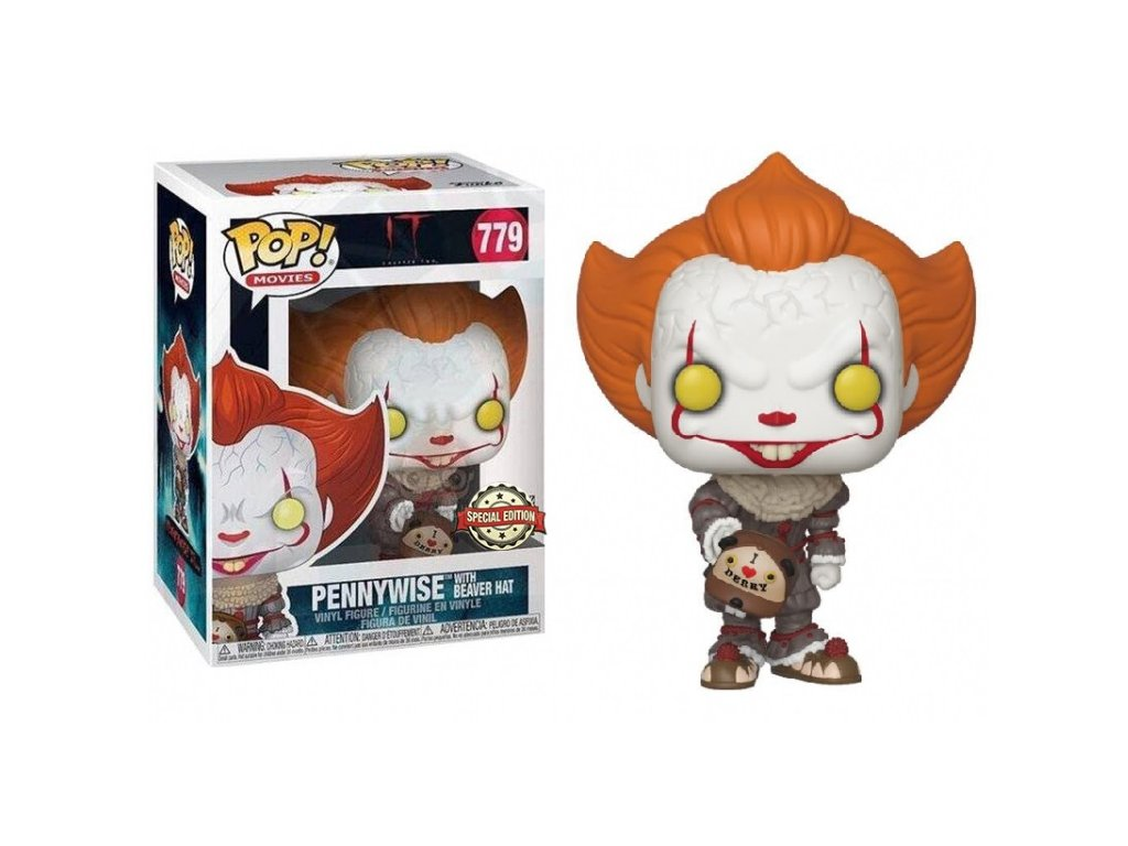 Funko POP! Pennywise with Beaver Hat 9 cm It
