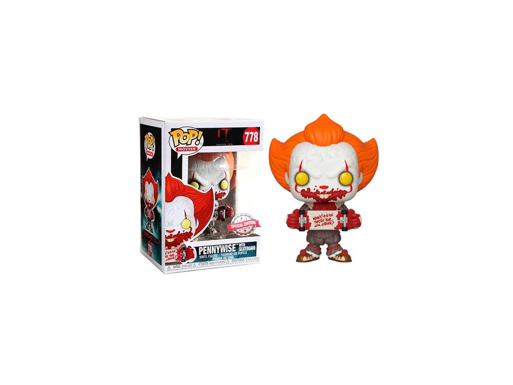 Funko POP! Pennywise with Skateboard 9 cm It