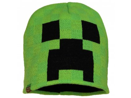 minecraft minecraft creeper kids beanie hat green