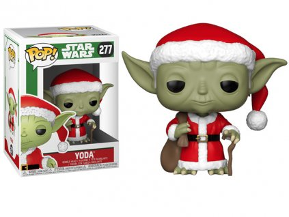Funko POP! Santa Yoda 9 cm Star Wars