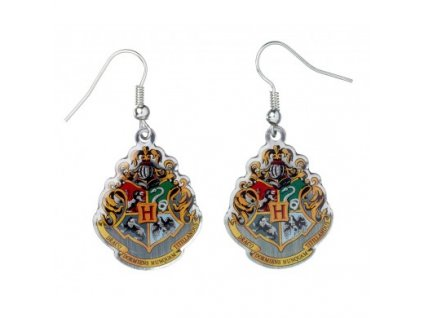 hp earrings hogwarts crest b