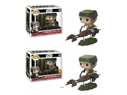Funko POP! Leia/Luke with Speeder Bike 10 cm Star Wars CHASE