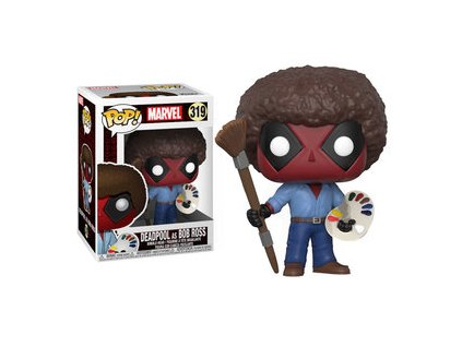 Funko POP! Bob Ross Deadpool 9 cm The Joy of Painting