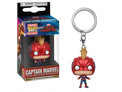Funko POP! Klíčenka Captain Marvel Helmet 4 cm Captain Marvel