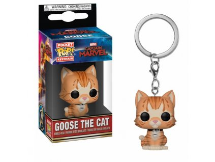 Funko POP! Klíčenka Goose the Cat 4 cm Captain Marvel