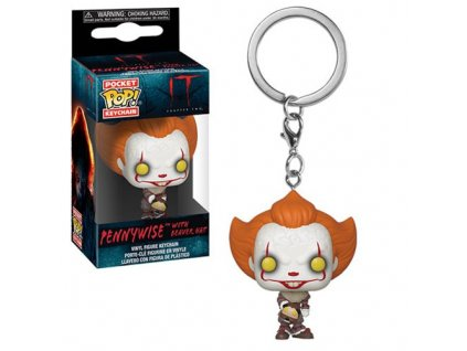 Funko POP! Klíčenka Pennywise wih Beaver Hat 4 cm It