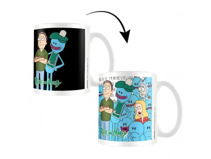 Měnící hrnek Jerry and Meeseeks Rick & Morty