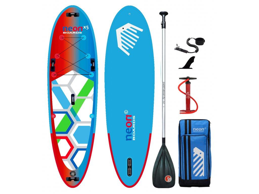Nafukovací paddleboard Neon X5 All Family 10'4″x34″x5″ - komplet s pádlem