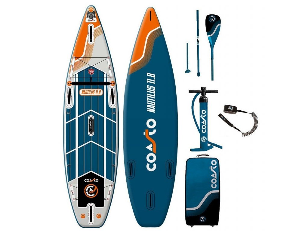 nafukovaci paddleboard coasto natulis 11 sup karlin v kompletu s padlem