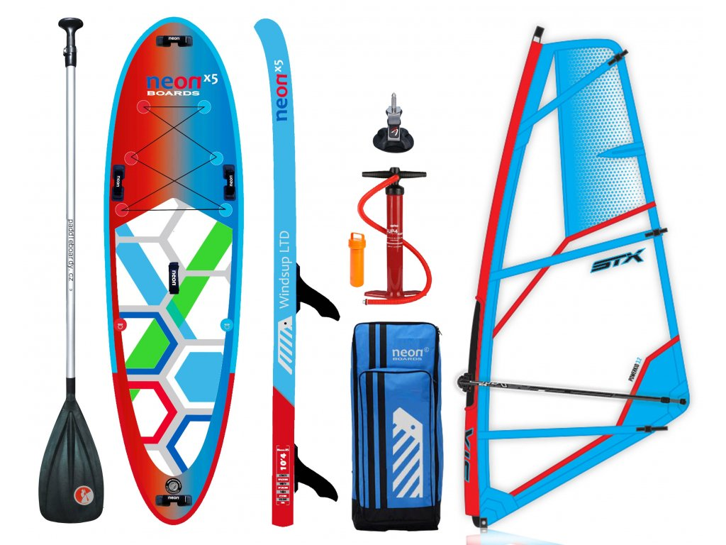 alu paddle neon X5 10´4 x 6 x 34 new STX Kid Rigg set