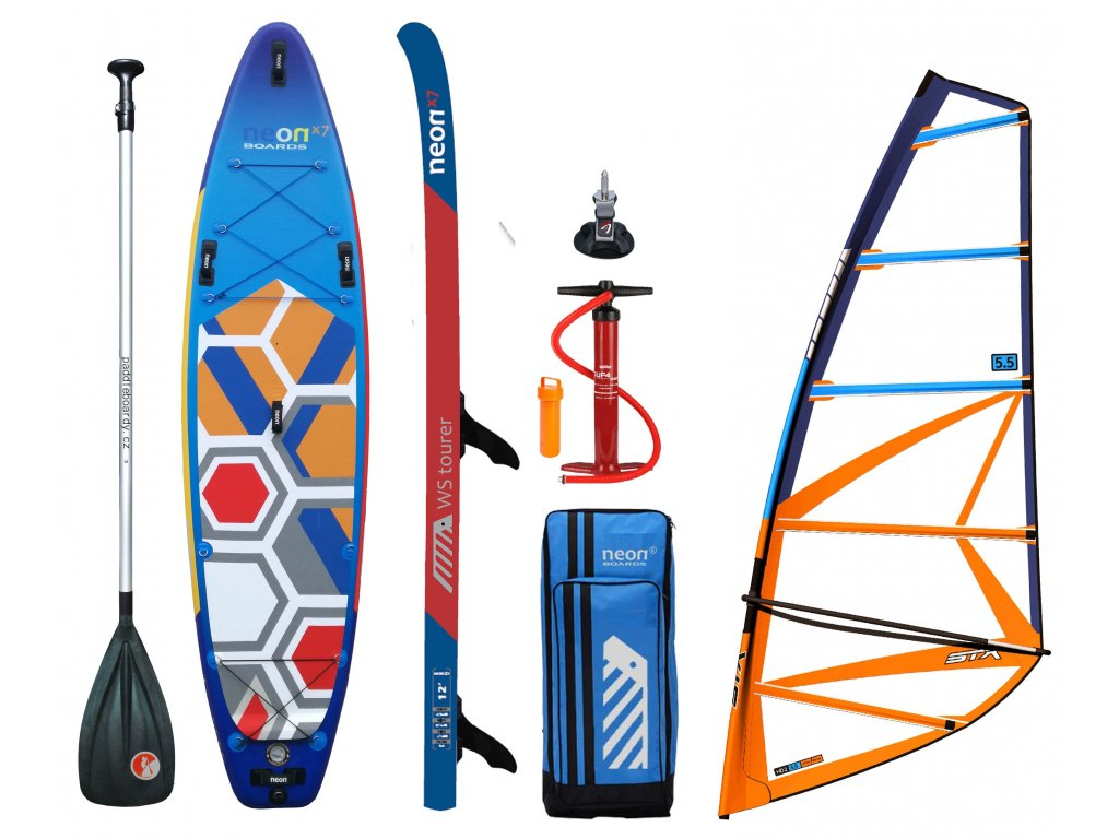 alu paddle neon X7 10´4 x 6 x 34 new STX HD20 set