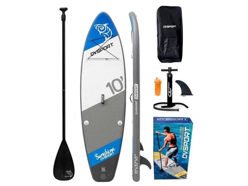 dvsport sunshine nafukovaci paddleboard modry sup karlin