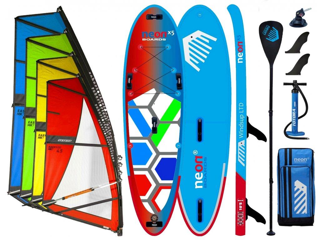 Neon X5 10´5 2021 Windsup set s RRD Easyride 3.5 5.0