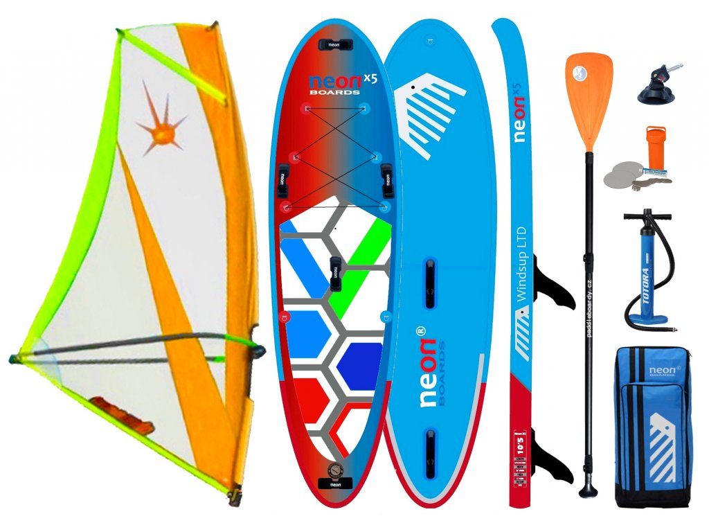Neon X5 2021 Windsup set s XO Sails paddle orange SUP Karlin