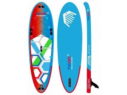 nafukovaci paddleboard neon X5 10´4 x 5 x 34