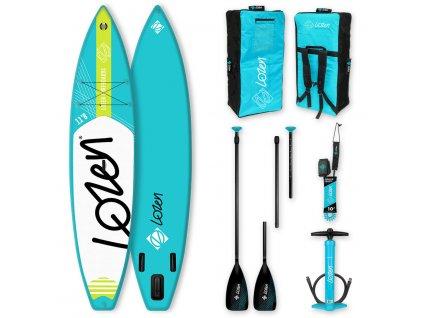 Touring lozen nafukovaci paddleboard v kompletu s prislusenstvi paddleboardy karlin